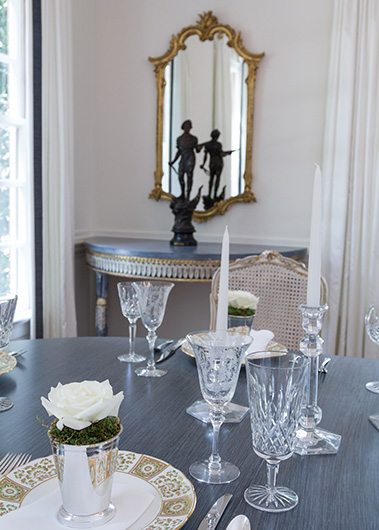 Elegant dining room, Betsy Anderson Interiors & Co.